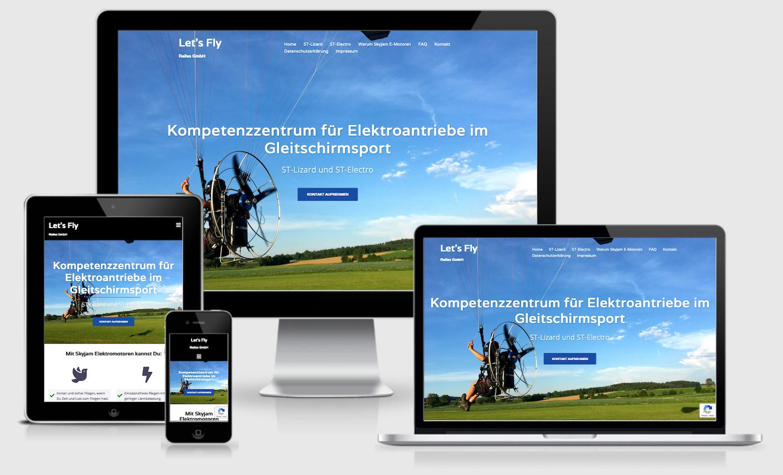 responsive webpage efly-railes.de