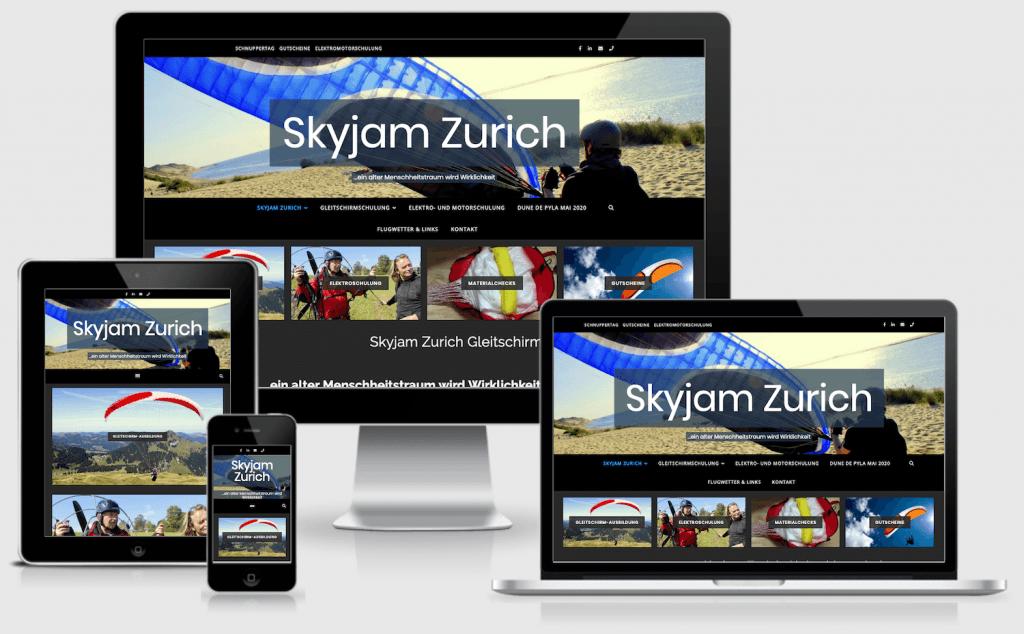 Responsive website Skyjam Zürich