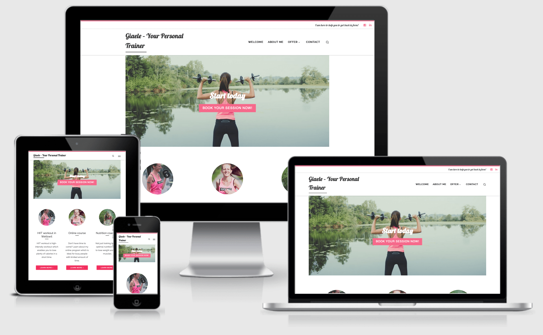 Responsive website Giaele Your personal trainer