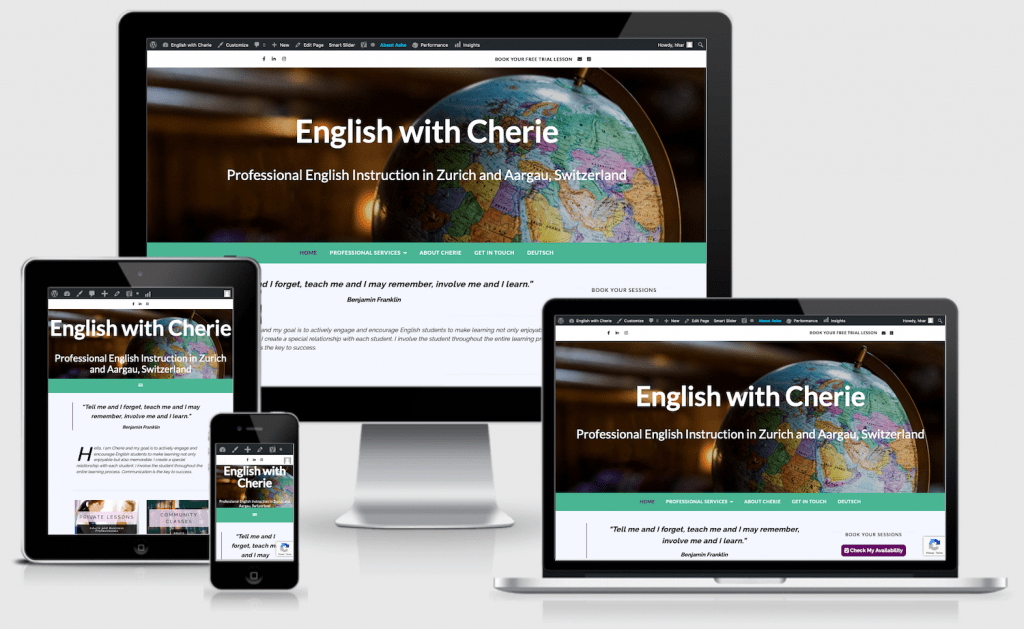 Responsive Website English with Cherie