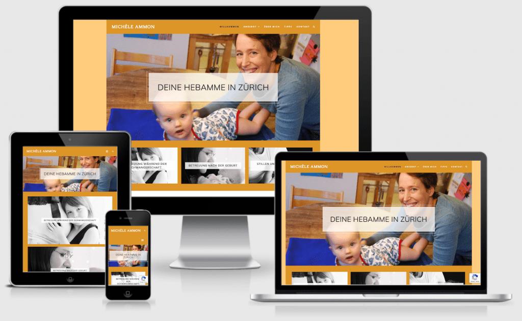 Responsive website Hebamme Zürich