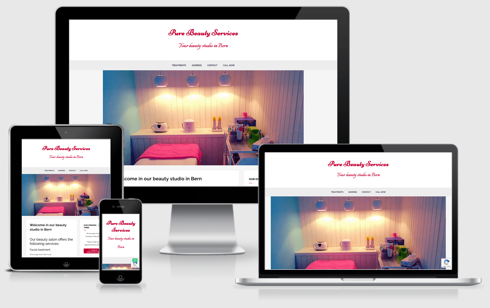 Responsive Website Pure Beauty Services