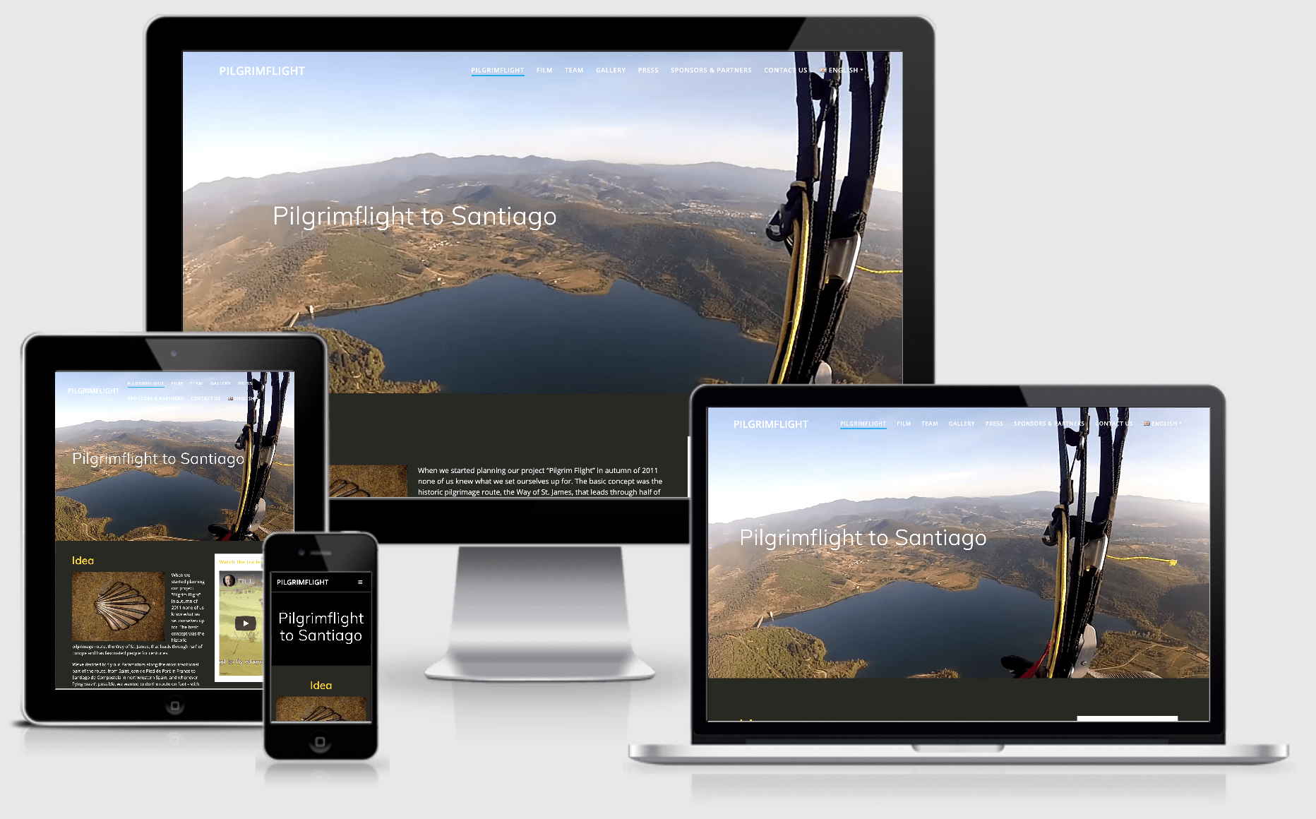 Responsive website Pilgrimflight